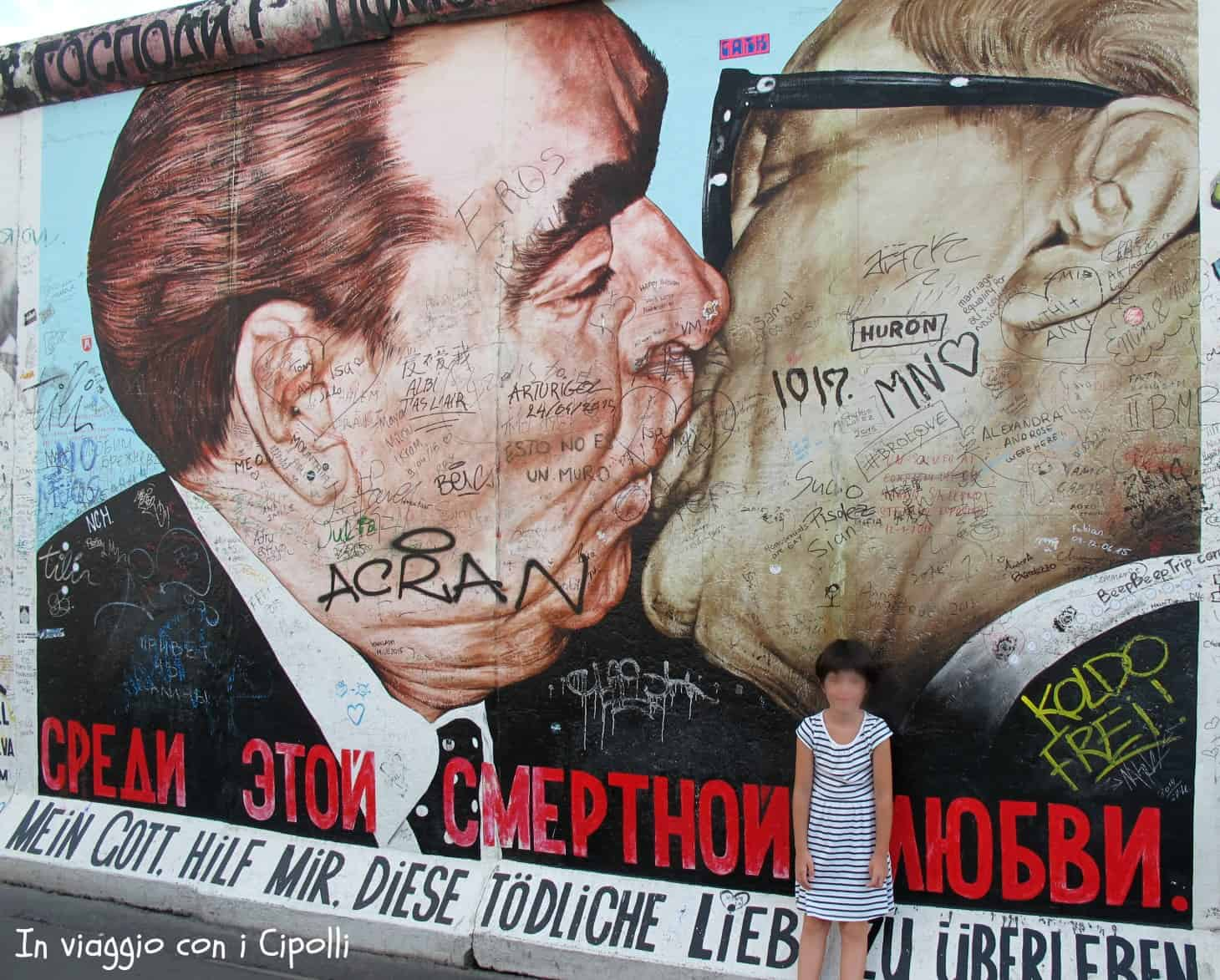 muro berlino bacio east side gallery