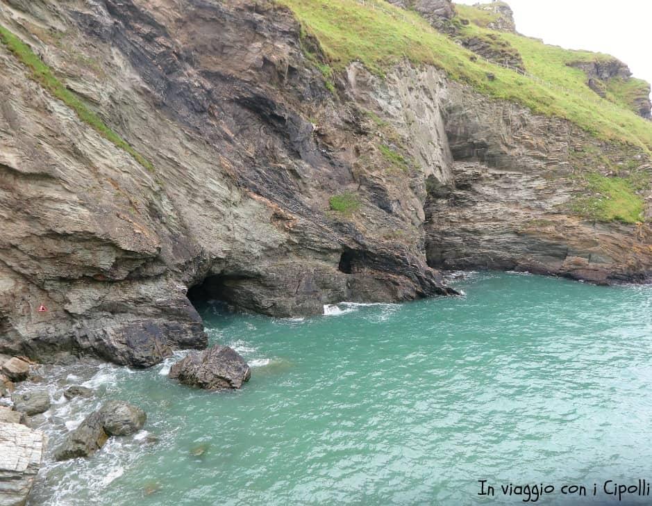 Grotta di Mago Merlino, Castello di Tintagel Cornovaglia